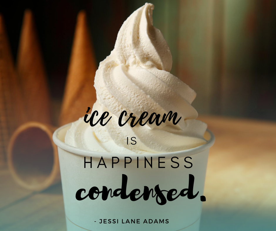 Ice Cream Makes Us Feel Happy